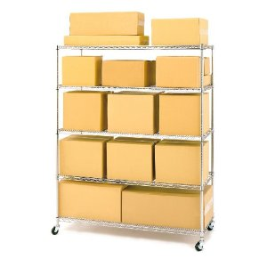 Seville Classics Shelving System With Wheels