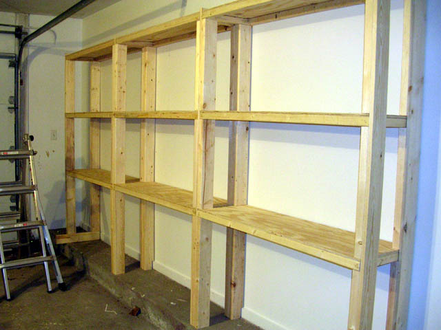 Wooden Garage Shelving