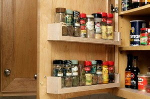 Back of door spice rack