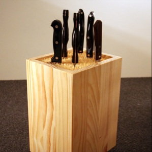 Skewer knife block