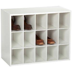 Cubby shoe organizer