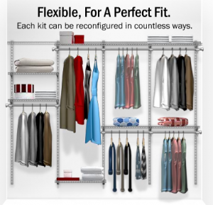 in with shelving htm tightmesh by custom system the freeslide rubbermaid walk ultra closet wire options and