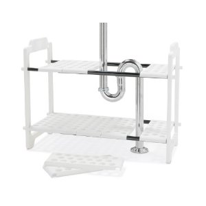 Expandable under the sink shelf organizer