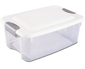 Set Of 6 Sterilite 18qt Boxes