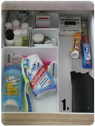 Bathroom Drawer Organization by Clean And Scentsible