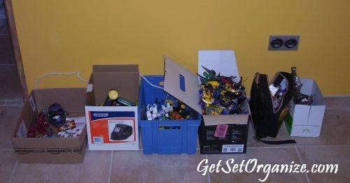 Toys All Sorted In Boxes