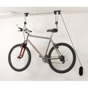 Garage ceiling bike storage